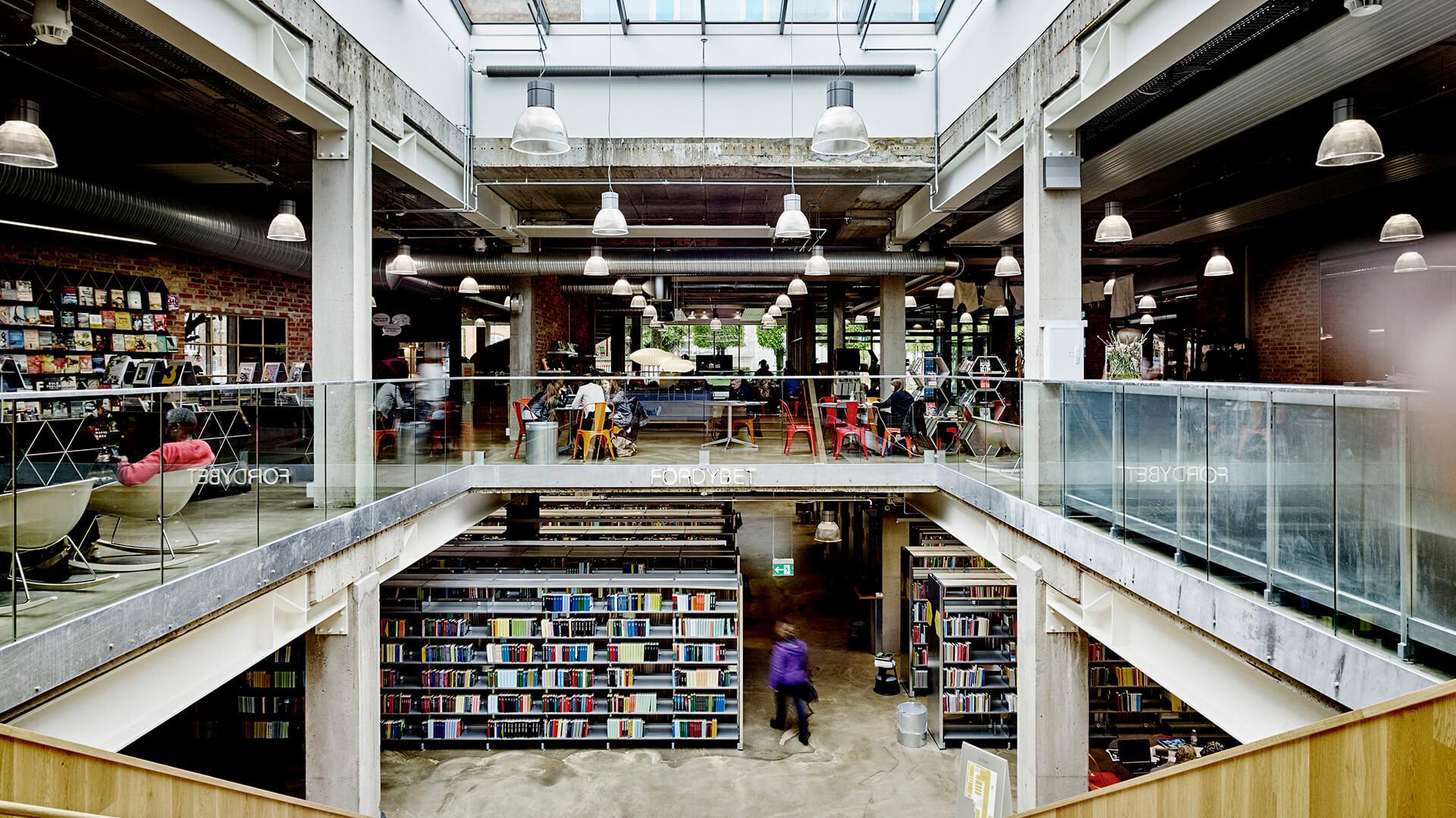 Herning Bibliotekerne, Dänemark. Foto von Marie Jeanne Smets