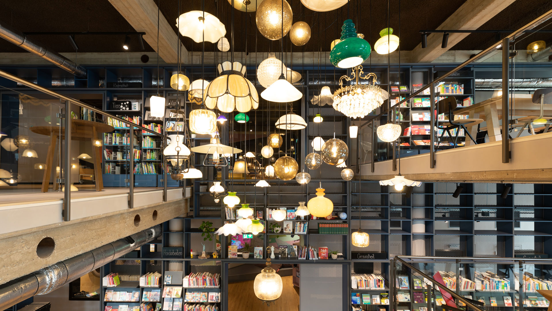 Langenfeld library lamps